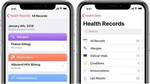 Una captura del Expediente Clínico en un iPhone con iOS 11.3 de un paciente que asiste un hospital participante en los Estados Unidos. (Fuente: healthcareitnews.com)
